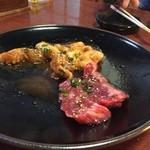 南山 - 料理写真:2016年2月下旬 ハラミ、ホルモン