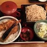 長寿庵 - ミニ天丼とせいろのセット