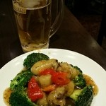 中華料理 菜香菜 - 牡蠣の黒胡椒ソースがけ