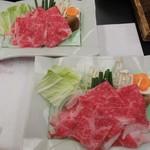 49061352 - 和牛霜降り肉の しゃぶしゃぶ : 綺麗な さしの入った 和牛霜降り肉は、まさに蕩ける美味さです。 2016.03.22