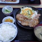 もとやくし食堂 - ローズポーク生姜焼き