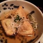 蕎麦処 多賀 - 揚げ出し豆腐。