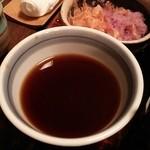 蕎麦処 多賀 - 辛味大根そばのつゆ。