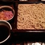 蕎麦処 多賀 - 辛味大根そば2枚重ね。1600円。