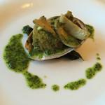 イタリア料理 リストランテ フィッシュボーン - あわびのナポーレ   ガーリックソースが美味(*^_^*)