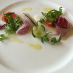 イタリア料理 リストランテ フィッシュボーン - 新鮮なお魚のカルパッチョ