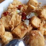 鴻星海鮮酒家 - 五香揚げ豆腐と唐辛子炒め