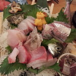 Uomori - 大漁7点盛り(今日は奮発)