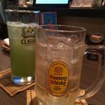 居酒屋 公樹 - ハイボール、緑茶はい