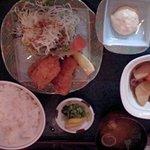 北海炉 - 牡蠣フライ定食大盛(980円)