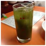 餃子会館ふく龍 - 緑茶ハイ 400円