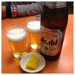 餃子会館ふく龍 - アサヒビール(中) 600円