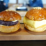 ノット カフェ - 料理写真:だし巻きサンド 、あんバターサンド