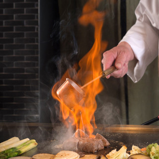 【本格的な鉄板料理】