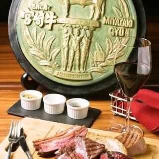 A5ランク宮崎牛指定店のこだわりビストロ料理が気軽に楽しめる