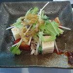 4909405 - あぐー豚冷しゃぶと島豆腐のサラダ