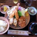 銭形 大野店 - ミックスフライ定食