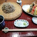蕎麦 たかま - 料理写真:天ざるそば