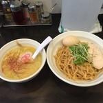 志堂 - 濃厚鶏つけ麺塩850円