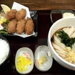 はるりん - カキフライ定食(ぶっかけ)