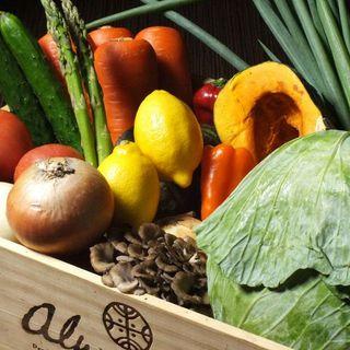 島根県直送の旬野菜も売りの一つ