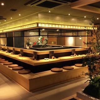 まるで和食店のような落ち着いた佇まいの炭火串焼き店☆