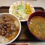 すき家 飯田店 - 牛丼 とん汁サラダセット