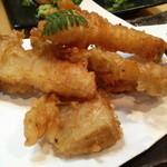 くろまめ - 筍の天ぷら800円。