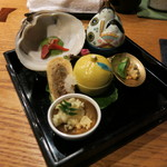 Girogirohitoshina - 前菜6点盛り