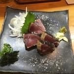 黒潮食堂 - 塩カツオタタキ650円(ルームキー提示半額価格)