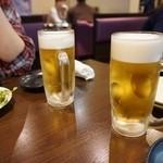 龍屋 - まずはビールでしょ♪