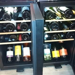 【ワイン】20種類以上揃えてます