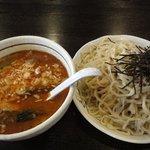 桃天花 - 坦々つけ麺(標準) 大盛り