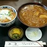 砂場 - カレー南蛮&ミニかつ丼