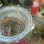 李朝園 - 金魚と猫のオブジェ