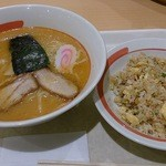 幸楽苑 - 味噌ラーメン+半チャーハンセット¥734