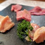 肉焼食堂もりしん - 本日の厳選お肉4種盛 ヒウチ・ツラミ・サーロイン・ホルモン