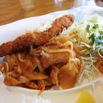 寿恵里 - 豚肉のトマトソース:白身魚のフライ