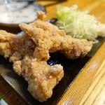 ます道庵 - 定食の鶏から揚げ