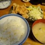 ます道庵 - 鶏から揚げ定食
