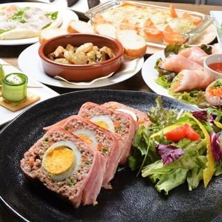 ◆オシャレ&ボリューミーなお得なコース料理!