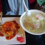 中国料理 廣河 - 天津飯&塩らーめん