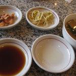 大倉山 - ランチセット(スープ、ナムル、キムチ)