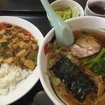 49133540 - 日替り定食(五目マーボ丼、ラーメン、サラダ)