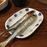 天ぷら 住友 - イワシの丸干し120円