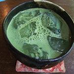 手ぬぐいカフェ 一花屋 - 抹茶オレ(600円)