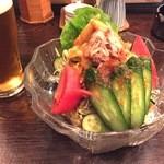 鳥伊勢 - 2016年3月24日の野菜サラダ