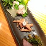焼鶏処 田楽 - 前菜3点盛り
