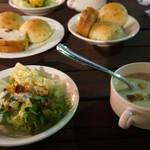 ガストロノーム - サラダ&パン、スープ