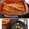 六騎 - 料理写真:*鰻は1尾入り厚みもあります。カリッとした焼き上がりではなくフックりとした柔らかい焼き上がり。 タレは福岡らしく甘めです。 下段のご飯もタップリでした。